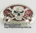 Unique Design Flame Skull Metal Belt Buckle