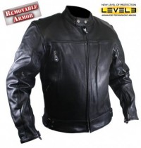 Xelement Premium Buffalo Leather Motorcycle Jacket B8166