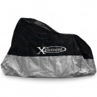 Xelement MC-65 Premium Black/Silver Motorcycle Cover