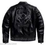 HARLEY Mens Aggressor Leather Jacket