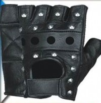 MD Heavy Metal Fingerless Gloves FG-0217