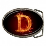 Letter D on Fire