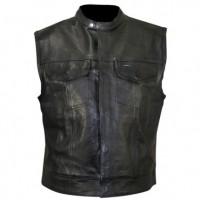 Xelement XS1937 Black Motorcycle Leather Vest
