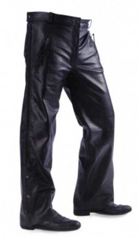 Xelement  Leather Pants with Side Zipper B7440