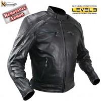 Xelement Advanced Armor Mens Naked Black Leather Jacket B-4520