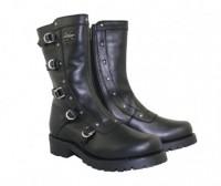 Xelement Womens Black Siren Strap Motorcycle Boots 2510
