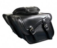 Waterproof Braided Classic Black Motorcycle Saddlebag X860