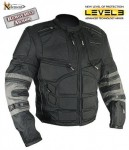 Xelement Mens Black-Gray Level-3 Cordura Motorcycle Jacket CF5050