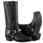River Road Square-Toe Zipper Harness Black