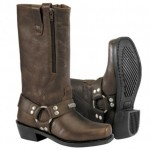 River Road Square-Toe Zipper Harness Brown