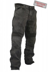 Xelement  Mens Classic Fit Black Stonewash Denim Motorcycle Pants 055000