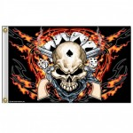 BIKER MOTORCYCLE DEADMAN FLAG