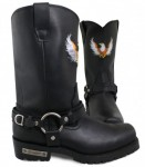 Xelement  Black Super Harness Boots 1496