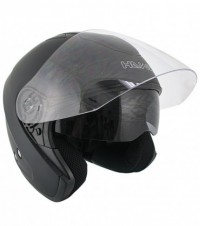 HAWK Flat Black Dual Visor Motorcycle Helmet AP-80