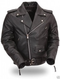 FMC Mens Classic Side Lace Motorcycle Jacket