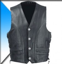 MGP Classic Leather Vest with Side Laces LV-0804