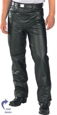 Xelement Classic Fitted Motorcycle Mens Leather Pants B7400