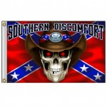 BIKER MOTORCYCLE SOUTHERN FLAG