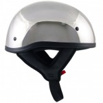 Outlaw Chrome Motorcycle Half Helmet
