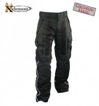 Xelement Black Tri-Tex Pants with Reflective Piping CF991493