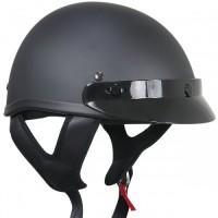 Outlaw T-69 Solid Flat Black Half Helmet