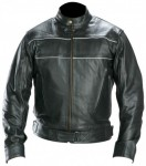 Xelement Classic Mens X-Force Black Racer Motorcycle Jacket 9109