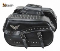 Xelement X-830 Waterproof Studded Eagle Double Buckle Motorcycle Bags