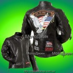 Ladys Motorcycle Leather Jacket