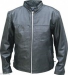 Mens Light Weight Leather Basic Jacket AL2083