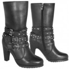 Xelement LU8006 Women's Fashion 3-Buckle Motorcycle Boots