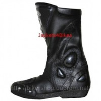 Jackets4Bikes Leather Motorcycle Boots with Slider