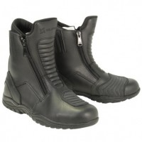 Xelement Men's Short Instep Black Leather Racing Boot XM-2009