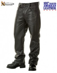 Xelement  Cowhide Leather 5 Pocket Motorcycle Pants B4755