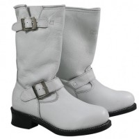 Xelement Womens White Harness Motorcycle Boots LU-2567