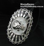 Evil Skull Bone Clean Crystal Buckle