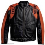 HARLEY Mens Bar & Shield Perforated Leather J