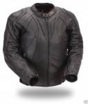 FMC Mens Leather Sport Motorcycle Biker Jacket