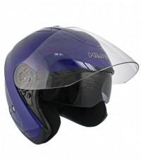 HAWK Blue Dual Visor Open Face Motorcycle Helmet AP-80