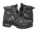 Xelement Advanced Lace Up Biker Boots 1469