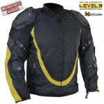 Mens Bl-Yello Motorcycle Jacket Breathable 3Way Lining B4542