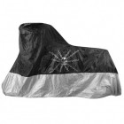 Xelement Premium Black/Silver Motorcycle Cover with Skull and Chain Graphics MC-82-SIL-BLK-COVER