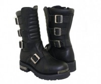 Xelement Black Leather Executioner Motorcycle Boot 1503