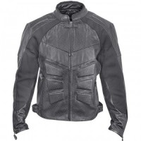 Xelement XS-1979 Armored Mens Perforated-Leather Motorcycle Jacket