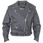 Xelement HM-50 Womens Matte-Black Belted Leather Jacket