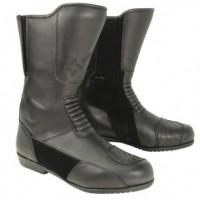 Xelement Men's Instep Black Leather Racing Boot XM-1030