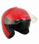 HAWK Red Dual Visor Open Face Motorcycle Helmet