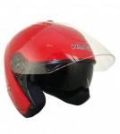 HAWK Red Dual Visor Open Face Motorcycle Helmet