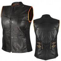 Xelement Women's Black Back Strap Vest XS-814