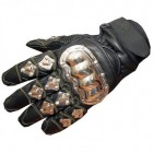 Jackets4Bikes Short Leather Steel Bike Gloves