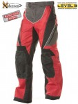 Xelement Black-Red Tri-Tex Motorcycle Pants B4405